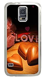 Chocolates And Roses PC Transparent Hard Case Cover Skin For Samsung Galaxy S5 I9600