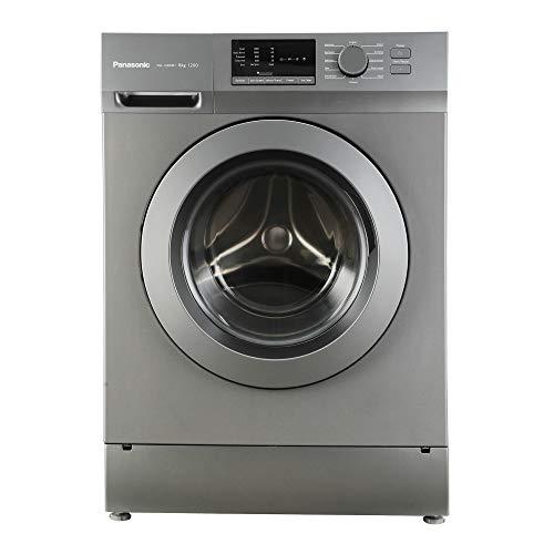 Panasonic 8 kg Fully-Automatic Front Loading Washing Machine (NA-128XB1L01, Silver, Inbuilt Heater)