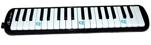 Melodica 37 Keys, Black Color, Pianica, Blow Harmonica by Swan