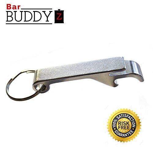 Keychain Bottle Opener - bartender bottle opener - Best Aluminum Bottle / Can Opener - Compact, Versatile & Durable - Vibrant Colors - Premium Keyring Bottle Opener - Ergonomic Design Silver