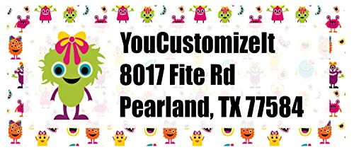 Girly Monsters Return Address Label (Personalized)