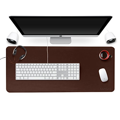 (YAPISHI Office Desk Pad Extended Large Gaming Mouse Pad Ultra-thin Smooth Writing Mats, Waterproof PU Leather Desktop Blotters Table Protector Cover for Computer/Keyboard/PC Laptop 31