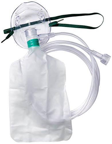 (Medline HCSU4642B Pediatric Disposable Oxygen Masks with 7' Tubing, Non Rebreathing (Pack of)
