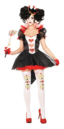 Leg Avenue Womens Renaissance Royal Queen Red Of Hearts Theme Party Costume, XL (Cheap Queen Of Hearts Costumes)