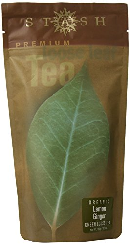 Stash Tea Organic Lemon Ginger Green Loose Leaf Tea 3.5 Ounce Pouch Loose Leaf Premium Green Tea for Use with Tea Infusers Tea Strainers or Teapots, Drink Hot or Iced, Sweetened or Plain (Lemon Loose Leaf Tea)