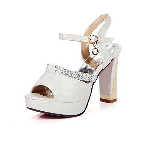 Donna 35 Adeesu white Bianco Ballerine 68qqwfX