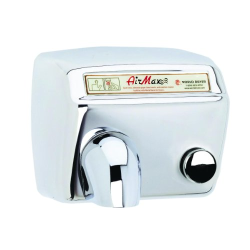 (AirMax Heavy Duty Hand Dryer Finish: Polished Stainless Steel, Voltage: 208-240 V)