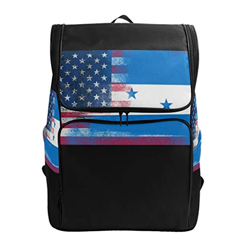 BaLin Laptop Backpack with Honduran Flag Print, Travel Business Large Computer Backpack College School (Best Bali Travel Systems)