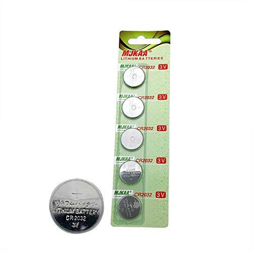 - MJKAA 2032 Battery CR2032 3V Lithium Coin Cell Battery Type : CR2032 / DL2032 / ECR2032 Genuine High Energy (Pack-5)