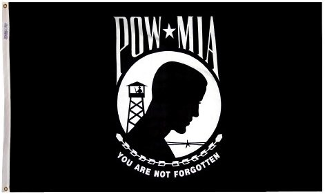 5x8' Pow/mia Nylon Flag - Double Sided - All Weather, Durable, Outdoor Nylon Flag - All Star Flags by All Star Flags