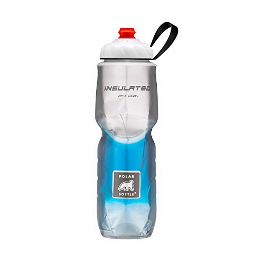 Polar Bottle ZipStream 24oz - Insulated Cycling & Sports Water Bottle with High Flow Cap - (24 oz Blue Fade)