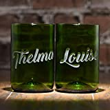 Thelma & Louise Glass Set, Recycled Wine Bottle Best Friends Gift