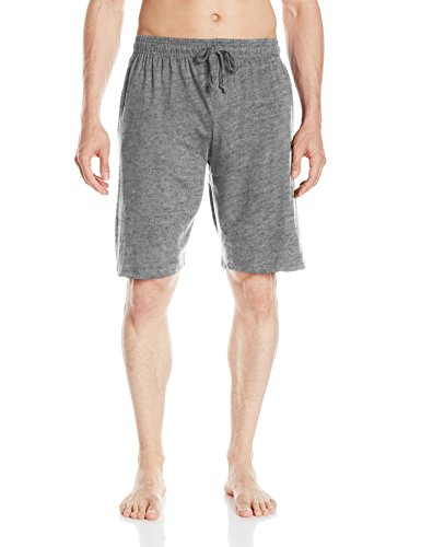 Big ball Sports Essentials by Seven Apparel Men's Solid Cotton Knit Short, Grey, Large