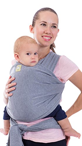 (Baby Wrap Carrier All-in-1 Stretchy Baby Wraps - Baby Carrier - Infant Carrier - Baby Wrap - Hands Free Babies Carrier Wraps - Baby Shower Gift - One Size Fits All (Classic Gray))