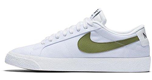 Zapatillas Nike Sb Blazer Zoom Low Canvas Para Hombre Blanco / Verde Palma 7m