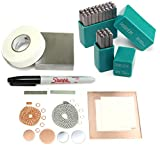 Beaducation Stamping on Metal Starter Kit, Beginner Stamping Kit for Hand Stamped DIY Jewelry Making Crafts