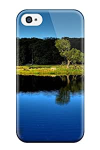 Iphone 4/4s Case Slim [ultra Fit] Blue Lake Reflection Trees Nature Other Protective Case Cover