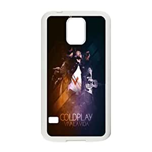 Coldplay Samsung Galaxy S5 Cell Phone Case White LMS3876045