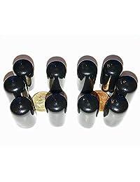 "(75 piezas)   Surtido 1 8"" a 1"" Negro Vinilo tapa final redonda para tubos de plástico Tubo Hub Caps Tubing Perno Tornillo de goma Protector de seguridad"