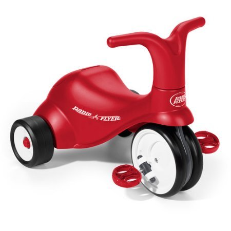 Radio Flyer 2-in-1 Scoot to Pedal Ride-On Trike in Red (1 2 Inch Kids Pedals)