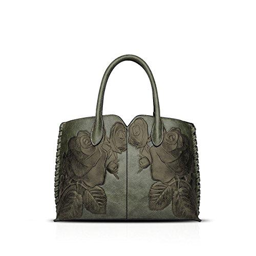NICOLE&DORIS Bolsos de Mujer Hombro Bandolera Bolso Messenger Bags Señoras Bolsa de Mensajero Bags Crossbody Bag Impermeable PU Naranja B Azul B