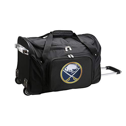 Buffalo Sabres Bag - NHL Buffalo Sabres Wheeled Duffle Bag, 22 x 12 x 5.5, Black