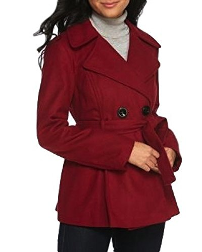 Rampage Jessica Tie Belt Jacket Small , Red)