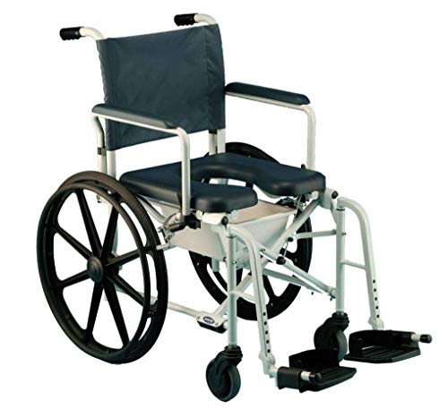 Invacare Mariner Rehab Shower Wheelchair, with Commode Opening, 18