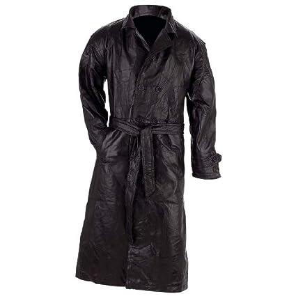 Brand new leather coat. 100% genuine black leather trench coat P2YqV8mt