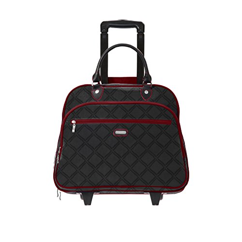 Baggallini Carryon Rolling Travel Tote,Charcoal Link c