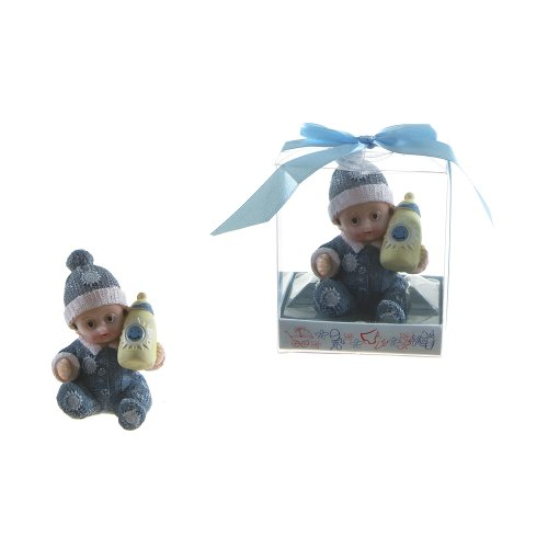"UPC 846279029522, Lunaura Baby Keepsake - Set of 12 ""Boy"" Baby Wearing Winter Clothes Favors - Blue"