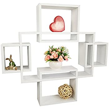 Amazon Com Shelving Solution Intersecting Squares Wall