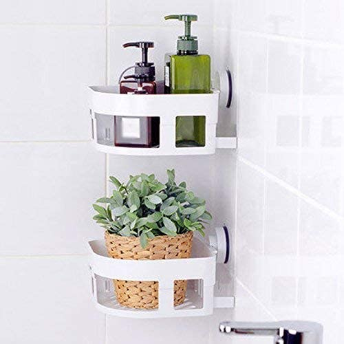 収納ラック棚 吸盤棚耐久性のある浴室の壁浴室の吸引壁いいえ掘削盆地収納ラック 家のホテルの装飾のため