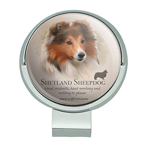 (GRAPHICS & MORE Shetland Sheepdog Dog Breed Golf Hat Clip with Magnetic Ball Marker)
