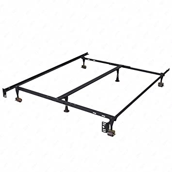 dfm size adjustable metal bed frame with center support platform heavy dutytwin full