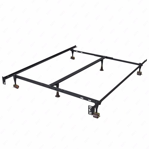 Mecor Adjustable Metal Bed Frame,Platform Heavy Duty,with Center Support/Rug Rollers & Locking Wheels,Twin/Full/ Queen by Mecor