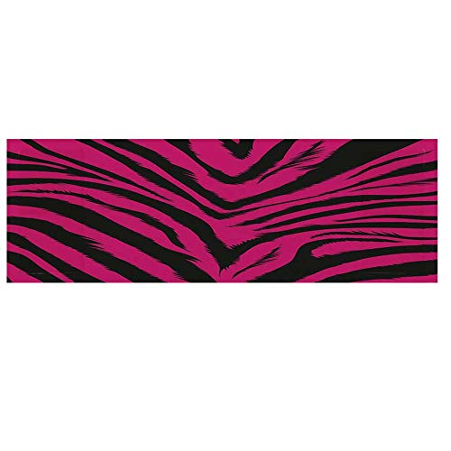 Teen Room Decor Microwave Oven Cover with 2 Storage Bag,Vibrant Zebra Skin Motif in Hot Tone Africal Animal Safari Fashion Decorative Cover for Kitchen,36