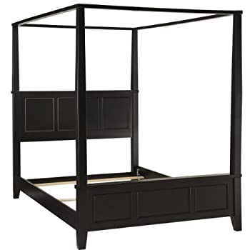 Home Styles Bedford Canopy Bed, King, Black