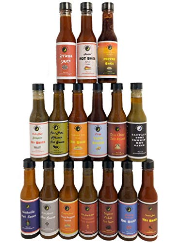 Premium | HOT SAUCE Variety or Gift Pack | 16 Count | Crafted in Small Batches with Farm Fresh Herbs for Premium Flavor and Zest