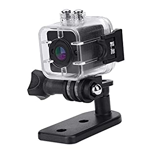 1080P HD Portable Mini Infrared Waterproof Cube Action Camera Camcorder with Mounts for Home Security, Outdoor Sports Recording, Car Data Recording, 0.98 x 0.98 x 1.18inch