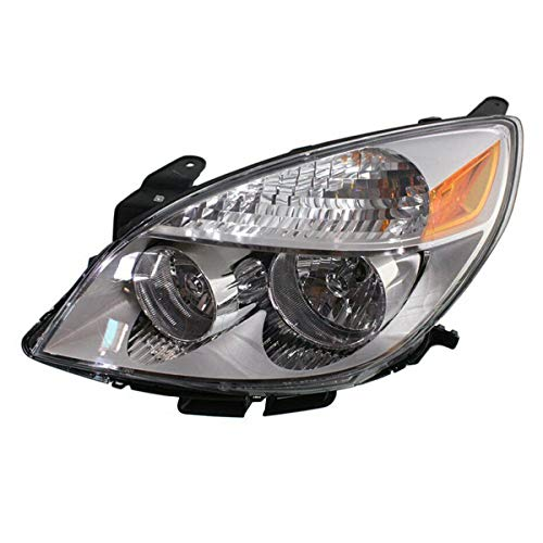 Koolzap For 2007-07 Aura Front Headlight Headlamp Halogen Head Light Lamp w/Bulb Driver Side