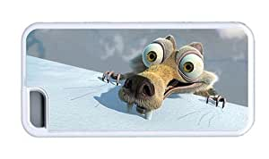 Hipster best iPhone 5C case Funny Scrat TPU White for Apple iPhone 5C