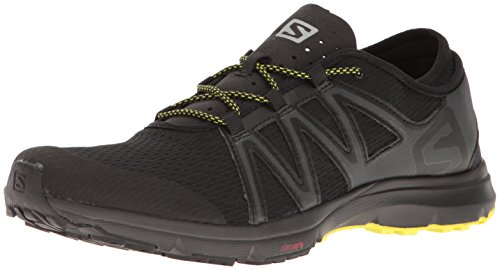 Salomon Men's Crossamphibian Swift Athletic Sandal, Black/Phantom/Sulphur Spring, 13 M US L39470900