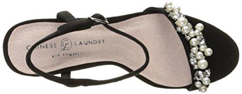 Chinese Laundry Womens Nike Kjole Sandal Svart Semsket Skinn