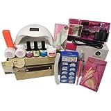 Kit Manicure Unha Primer Lixadeira Gel Top Coat Cabine Led