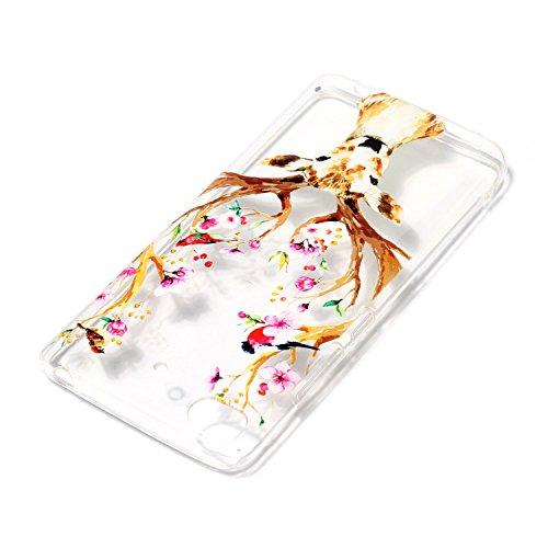 Funda Xiaomi 5S, E-Lush Suave Silicona TPU Carcasa Impresión Elegante Cáscara Ultra Delgado Clear Flexible Gel Parachoques Goma Transparente Case Cover Relieve Patrón Diseño Bumper Amortigua Golpes Pr Ciervos
