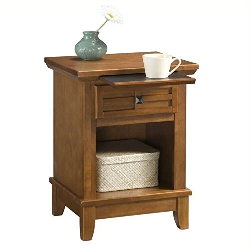 Solid Oak Bedside Table (Home Styles 5180-42 Arts and Crafts Night Stand, Cottage Oak Finish)