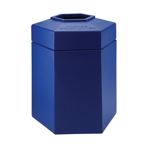 Commercial Zone 45 Gallon Hex Waste Container 7372 Color: Blue
