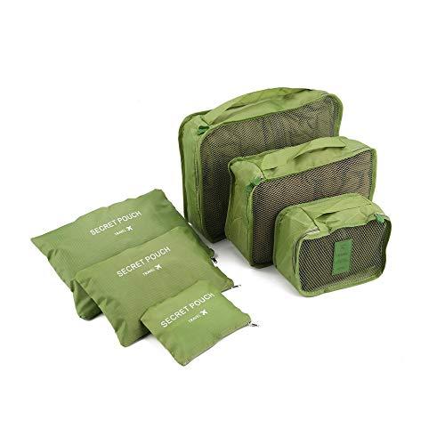 Korean Style Portable Durable Eco-Friendly 6 Pcs/Set Square Travel Home Luggage Storage Bags Clothes Organizer Pouch…