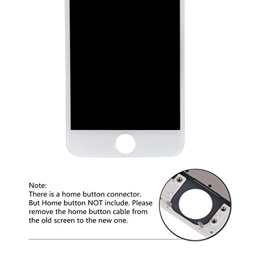 iPhone 6 Screen Replacement White, Giorefix 4.7 Inch LCD Display Touch Screen Digitizer Frame Assembly with Full Set Repair Tools Screen Protector for iPhone 6 Display White by Giorefix (Image #4)
